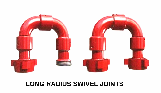 Long radius sweep swivel joints